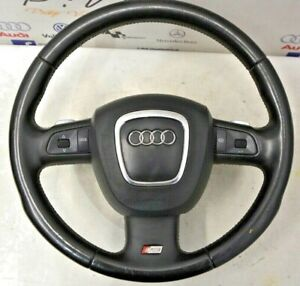 AUDI S6 C6 4F 5.2 V10 06-11 COMPLETE STEERING WHEEL AND AIRBAG + PADDLES