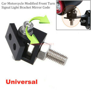 1x Universal Car Motorcycle Modified Front Turn Signal Light Bracket Mirror Code