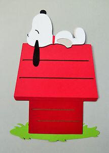 Charlie Brown Snoopy Peanuts Paper Die Cut Scrapbook Embellishment