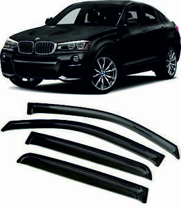 For BMW X4 (F26) 2014-2018 Window Visors Sun Rain Guard Vent Deflectors