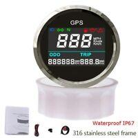 52mm Waterproof GPS Digital Speedometer Odometer Gauge for Motorcycle Car Truck
