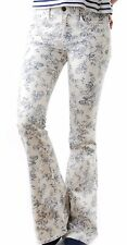 Wildfox Women`s Joni Flare Jeans in Toile Size 29 Cream Flower Print BNWT BCF510
