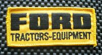 "FORD TRACTOR EQUIPMENT EMBROIDERED SEW ON PATCH FARM UNIFORM 4 1/2"" x 2"""
