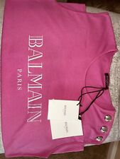 100 % Authentic BALMAIN WOMEN's T-shirt Pink Color Size 42 Top Blouse