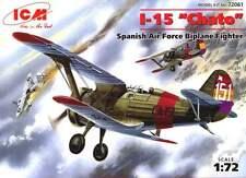 "POLIKARPOV I 15 ""CHATO"" guerra civile spagnola 1937-1939 1/72 ICM"