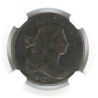 1803 Draped Bust 1C NGC Certified Fine Details Enviro. Damage EAC Large Cent
