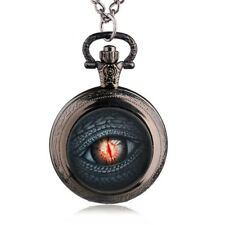 Pocket Watch Mini Dragon's Eye Got Lied by Fire and Ice Stainless Steel +