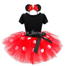 Karneval Kostüm Mädchen Party Minnie Mouse Cosplay Tutu Rock Kleid Fasching NEU