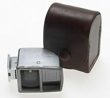ZEISS IKON CHROME CAMERA UNIVERSAL VIEW FINDER WIDE ANGLE 427 RARE CLEAN CASE
