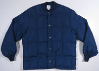 Vintage 90s Walls Blizzard Pruf Down Quilted Blue Full Snap Puffer Coat Jacket L