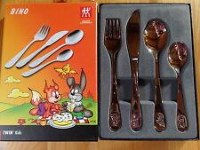 Kinderbesteck Bino mit Gravur Namen  4-tlg. Zwilling  children`s cutlery