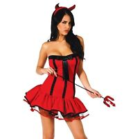 TENUE DÉGUISEMENT DIABLESSE DIABLE DEMON LINGERIE SEXY COSTUME HALLOWEEN FEMME