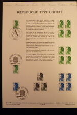 FRANCE MUSEE POSTAL FDC 27bis-86  TIMBRES TYPE LIBERTE  1,90+3,40F  PARIS   1986