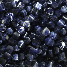 8X9MM SODALITE PILLOW NATURAL GEMSTONE BEADS 16 IN STRAND
