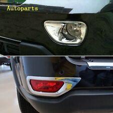 For Jeep Grand Cheroke 2011-2013 4PCS Chrome Fog Light lamp cover Bezel trim