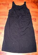 Women's LIZ LANGE Maternity Black Rayon Sleeveless Career Dress Size Small