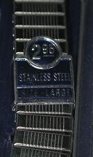 NOS SPEIDEL Twist-o-Flex SS Stretch Mens Wrist Watch Band 17.5mm Ends #1016