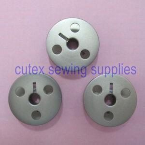 Juki LU-2210N-7, LU-2212N-7 Original Aluminum Bobbins - 3 Pack #107-59603