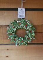 "RAZ Christmas Ornament 5"" Wreath Plastic Glitter"