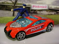 2013 POLICE PURSUIT Design SPEED TRAP∞red/blue/chrome;pr5∞Loose hot wheels