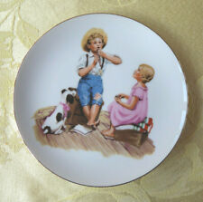 """Vintage Norman Rockwell 1986 """"Music Master"""" Collectible Plate 6-1/2"""" Diameter"""