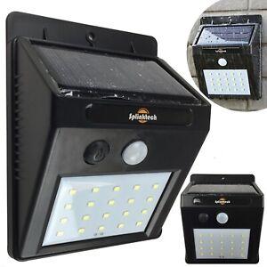 Solar Powered PIR Motion Sensor Wall Security Light 20 LED Outdoor Garden Lamp