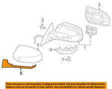 SUBARU OEM Door Side Rear View Mirror-Lower Cover Trim Cap Right 91054AJ221