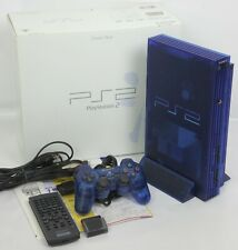 "PS2 OCEAN BLUE Console System SCPH-37000 J1713796 Tested Playstation 2 ""NTSC-J"""