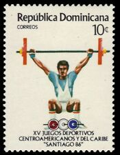 """DOMINICAN REPUBLIC 974 - Central American Games """"Weight Lifting"""" (pa78271)"""
