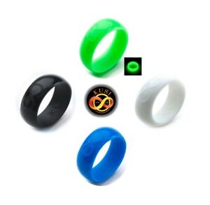 Silicone Wedding Ring / Wedding Band for Men 4 Rubber Rings Pack Sets - by KUSI