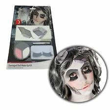 Halloween Make Up Kit Broken China Evil Doll Facepaint FX Set Fancy Dress Outfit