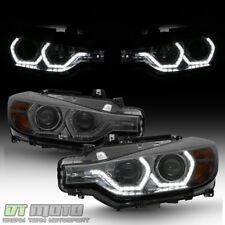 Smoke 2012-2015 BMW F30 3-Series Sedan LED 3D DRL Projector Headlights Headlamps