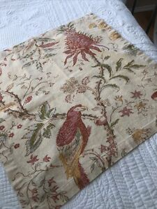 Pottery Barn Napkins Set Of 6 Floral Pattern/ Yellow Red, Orange, Gold