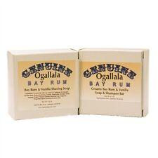 Ogallala Bay Rum & Vanilla 2 pack -- Shaving Soap and Bath Soap & Shampoo Bar