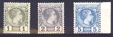 MONACO ANNO 1885 1-2-5 CENT. EFFIGIE DEL PRINCIPE CARLO III MNH ** (1)