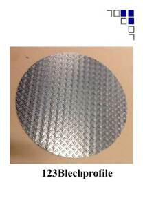 Schachtabdeckung rund Alu-Riffelblech1,5/2,2,5/4,3,5/5,5/6,bisØ950mm Tränenblech