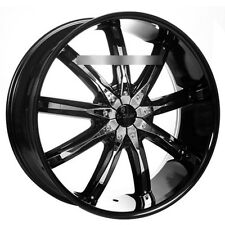 "22"" Dcenti Wheels DW29 Black W/ Chrome Inserts Rims"