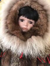 Alaska Native Porcelain Doll PRIMO! Handmade by, Anna Anvel from Bethel, AK