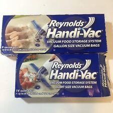 Reynolds Handi-Vac Vacuum Freezer Bags 9 Gallon (sealed) 14 Quart (open new)
