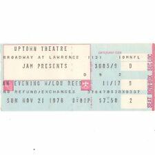 LOU REED Concert Ticket Stub CHICAGO 11/21/76 UPTOWN THEATRE VELVET UNDERGROUND