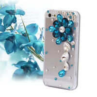3D Luxury Bling Crystal Diamond flower Rhinestone Hard Clear Phone Case Cover #3