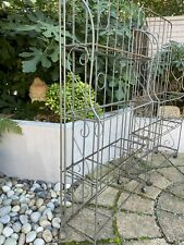 More details for vintage/antique french bakers racks/stands. pair. shelving units/garden displays