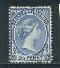 FALKLAND ISLANDS 15 SG30 MH 1894 2&1/2p ultra QVIC Wmk Crown CA Cat$50