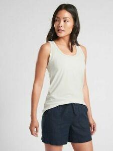 ATHLETA Organic Cotton Daily Tank Calla Lily S 4/6 NWT Retail $39