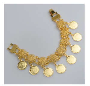 Gold Plated Wholesale Money Coins Bangle Bracelet Gifts Trendy Fashion Jewellery
