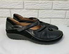 Naot Matai Mary Jane Shoes 38 US 7 Black Leather Suede