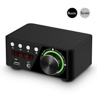 Mini Bluetooth 5.0 Power Amplifier Receiver Stereo 2 Ch Home Audio Car Amp USB
