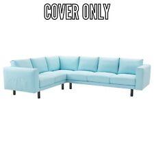 IKEA COVER FOR NORSBORG SECTIONAL 5 SEAT CORNER SOFA EDUM LIGHT BLUE