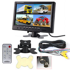 9 inch color TFT LCD 4 Split Quad Video display monitor  Car Rear View Monitor