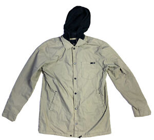 Krew Zip Up Jacket Coat Size Medium Skate Hoodie Kr3w Cream